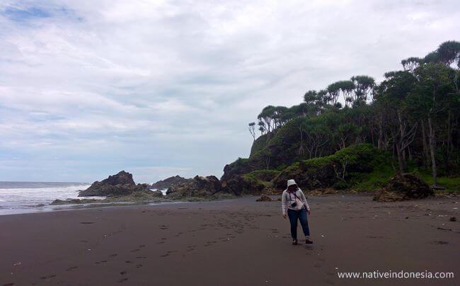 jalan menuju pantai karang tawulan