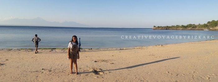 backpacker ke lombok - Pantai Tangsi a.k.a Pink