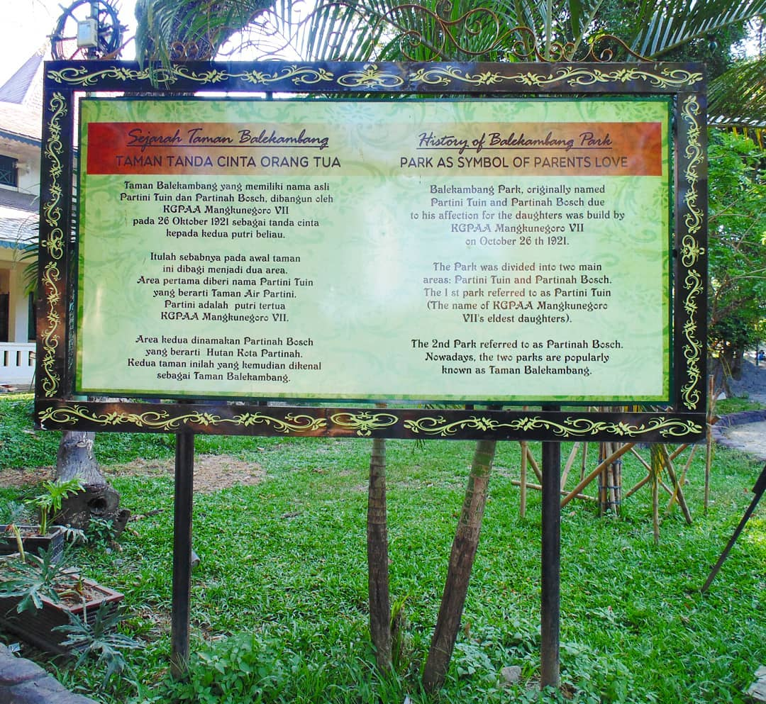 Taman Balekambang Solo Sejarah