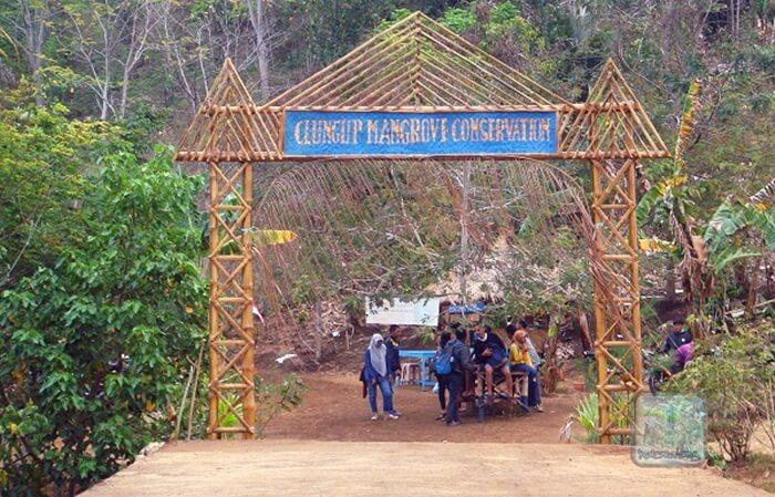 Gerbang Lokasi Pantai Clungup