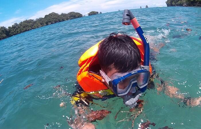 Snorkeling Pantai Clungup