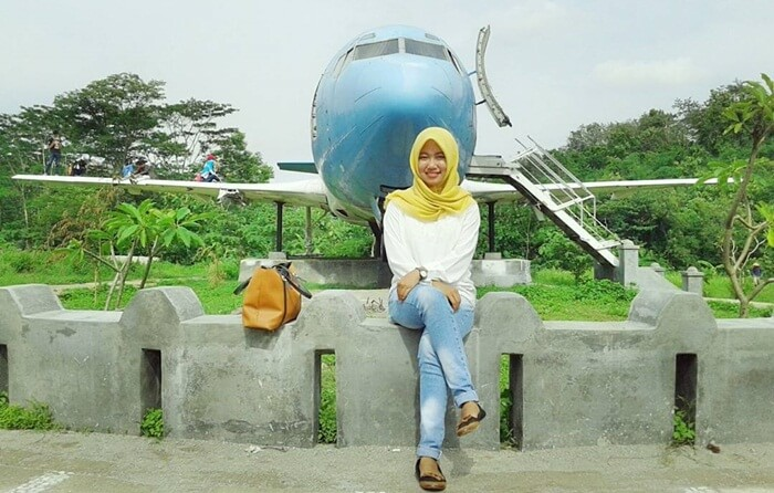 Selfie Pesawat Kalipancur