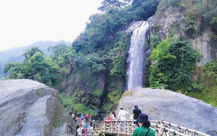 curug 7 bidadari, air terjun bertingkat di area wisata bandungan