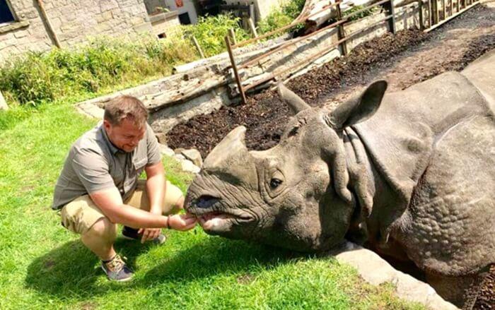 Badak india koleksi batu secret zoo merupakan badak india yang terbesar di Indonesia