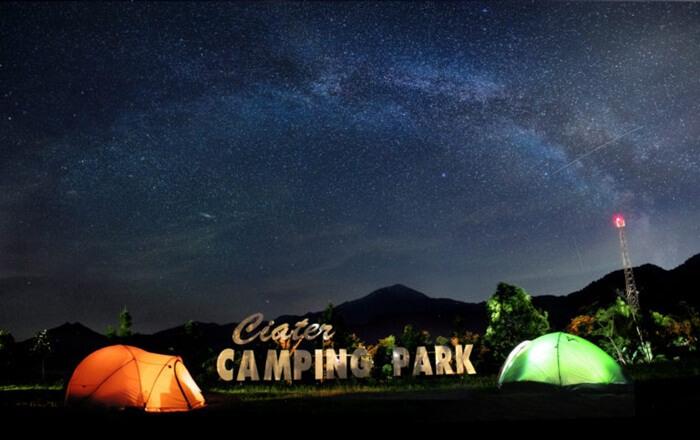 sari ater resort juga mengelola lokasi camping untuk pengunjung yng ingin menikmati keteduhan malam di lokasi ini