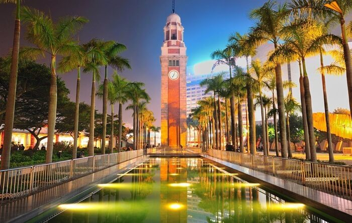 Berdiri setinggi 44 meter, tempat wisata di hongkong berupa Menara Jam tua ini didirikan pada 1915 sebagai bagian Stasiun Kereta Kowloon-Canton