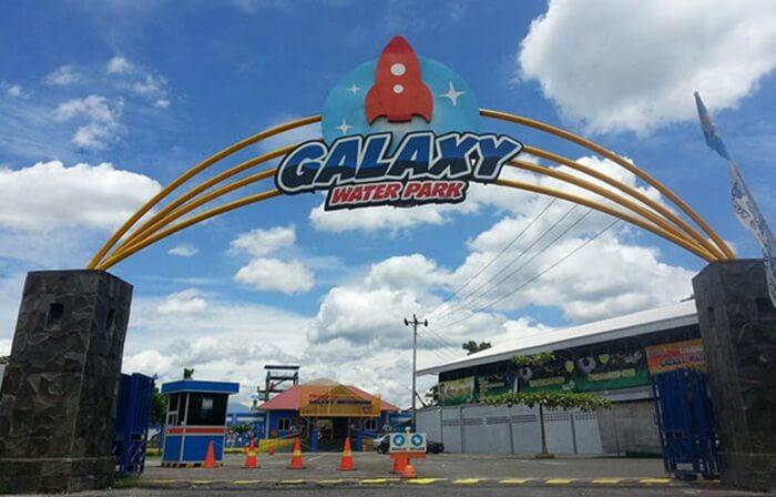 gerbang masuk Galaxy Waterpark Jogja