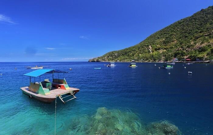 Di perairan tempat wisata Gorontalo ini ada bunga karang besar bernama Salvador Dali Sponge.