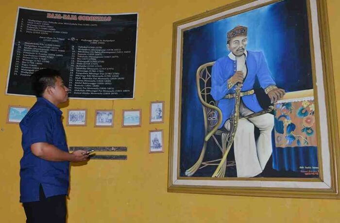 Raja Gorontalo, Zainal Abidin Monoarfa,di museum beranda kebudayaan di desa adat bubohu.