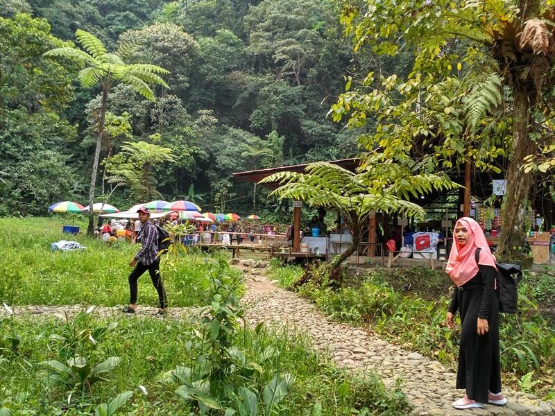 Jalur Trekking Menuju Curug Sawer