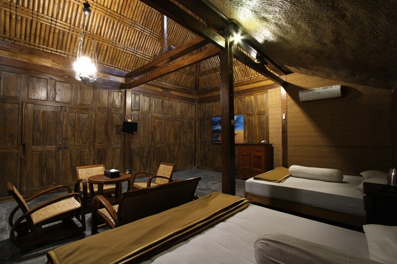 stay with a rural atmosphere